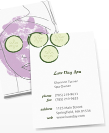 Preview image of Business Card design 'Painted Faces'