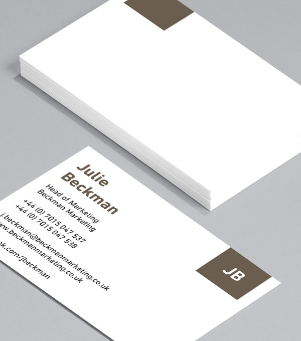 Business Card designs - Just the initials