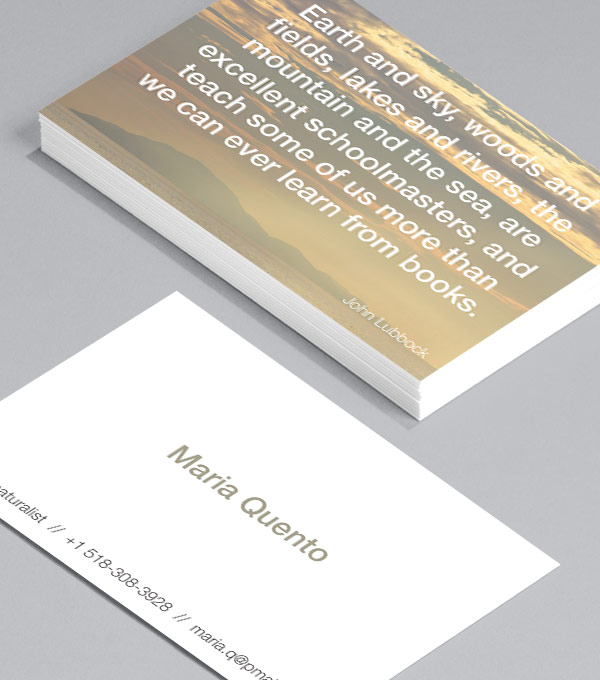 Business Card designs - Landscapes