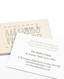 Preview image of Business Card design 'Retro-dental'