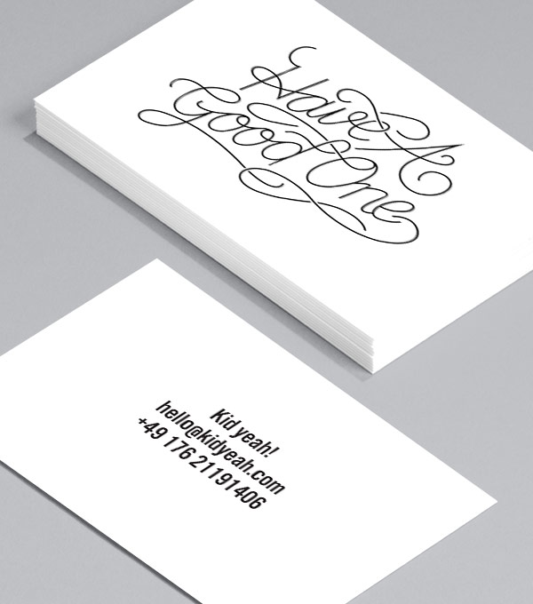 Business Card designs - Greetings & Salutations