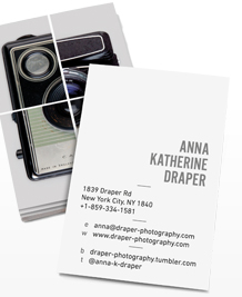 Preview image of Business Card design 'Snap Happy Portrait'