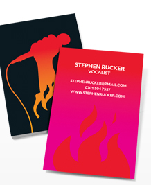 Preview image of Business Card design 'Mic on Fire'