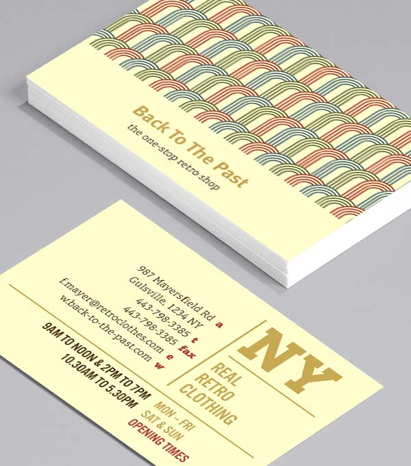 Business Card designs - Retro Shop