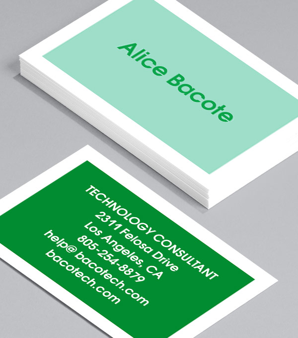 Business Card designs - To the point