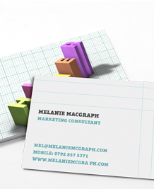 Preview image of Business Card design 'Word Graphs'