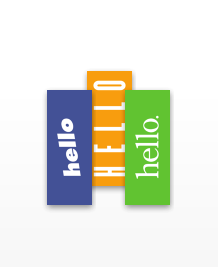 Preview image of MiniCard design 'Hello'