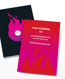 Preview image of Business Card design 'Vinyl on Fire'