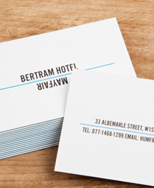 Business Card designs - Bertram Hotel