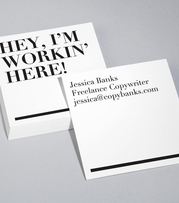 Square Business Card designs - Workin' here!