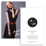 Business Cards For Models Model Porthole Portfolio