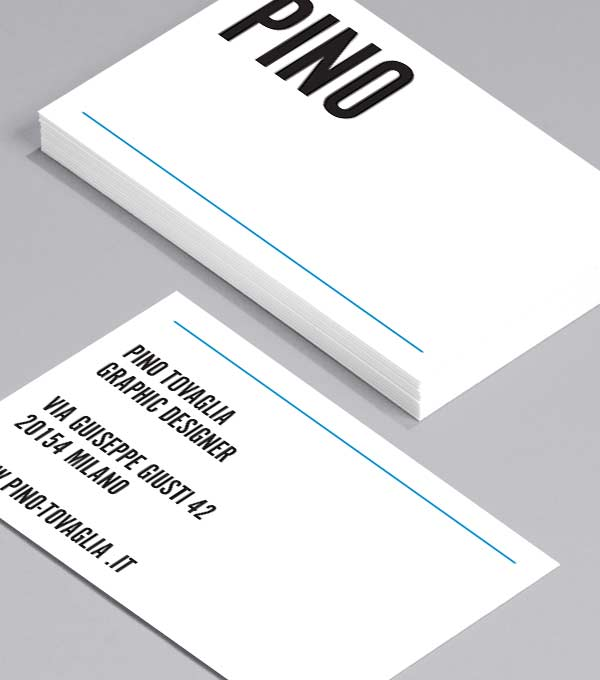 Business Card designs - Pino Tovaglia