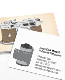 Preview image of Business Card design 'Classic Cameras'