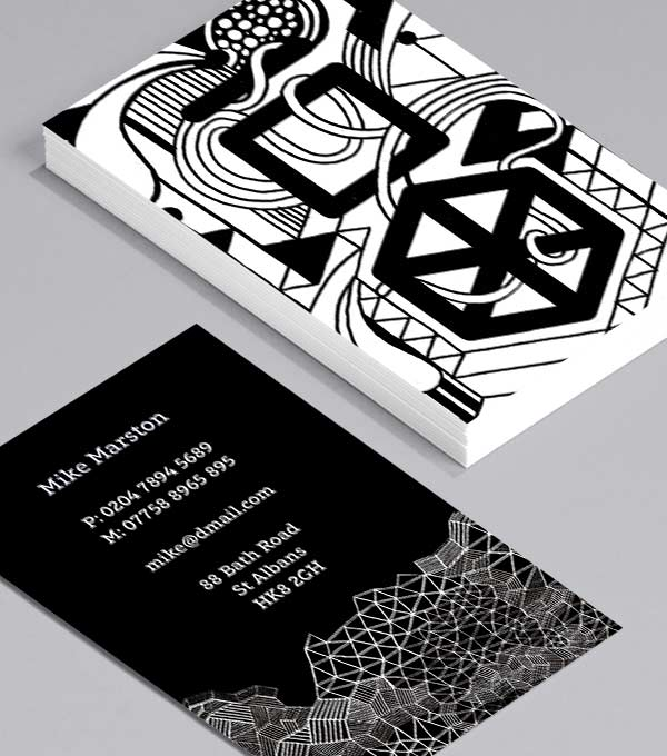 Business Card designs - Black & White