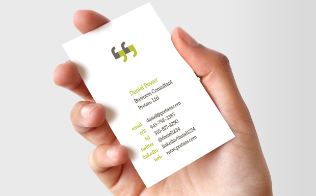 you can quote me business cards