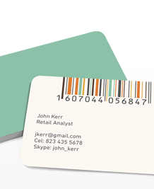 Preview image of Business Card design 'Minimal Barcodes'