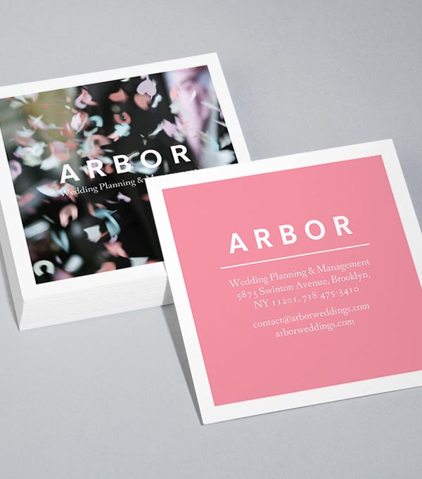 Square Business Card designs - Arbor