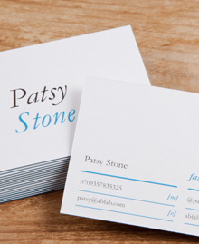 Preview image of Business Card design 'Patsy Stone'