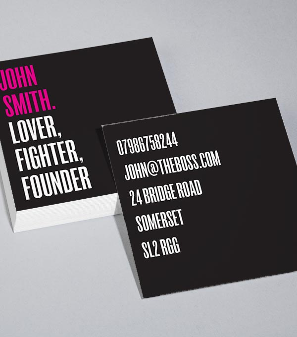 square business card designs plainly fancy