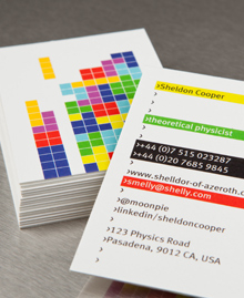 Business Card designs - Sheldon Cooper