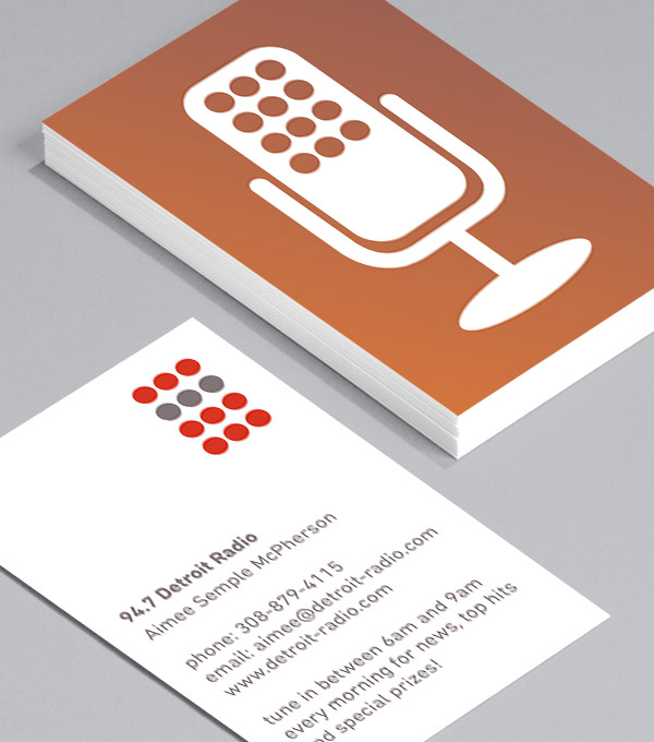 Business Card designs - Talk Radio - Red