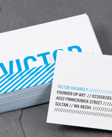 Preview image of Business Card design 'Victor Vasarely'