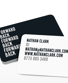 Preview image of Business Card design 'Back and Forth Text'
