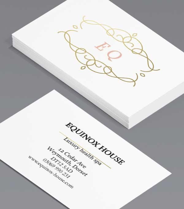 Design Templates Gold Foil Spot Uv