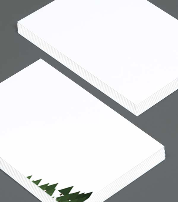 Notecard designs - Friendly Firs