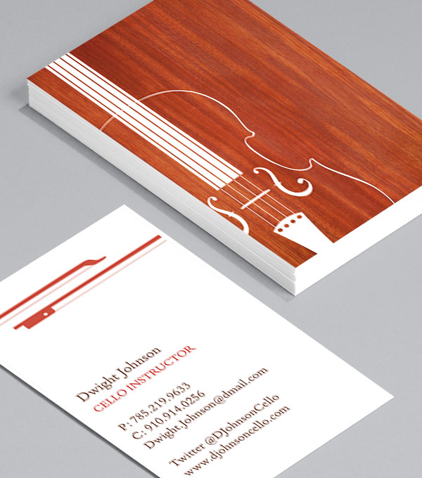 Business Card designs - Violin Silhouette
