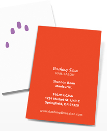 Preview image of Business Card design 'Coloured Nails'