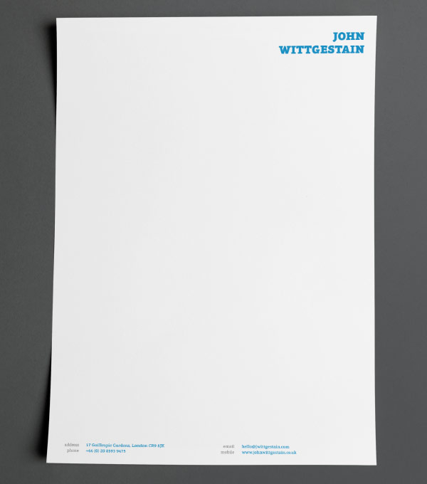 sample letterhead designs