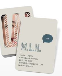Preview image of Business Card design 'Alphabet Street'