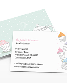 Business Card designs - Cute Cupcakes