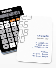 Preview image of Business Card design 'Retro Calculator'