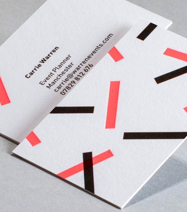 Business Card designs - Ticker Tape