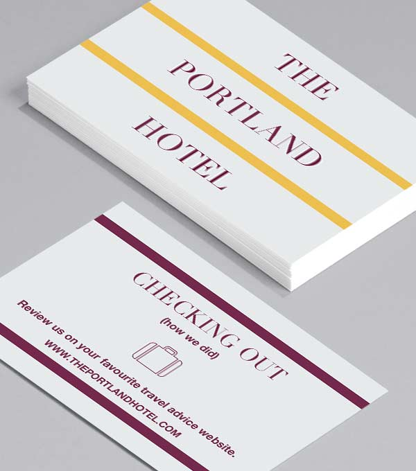 Business Card designs - Grand Hotel