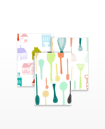 Postcard designs - Kitchenware