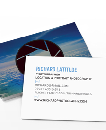 Preview image of Business Card design 'Aperture'