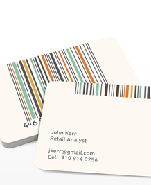 Preview image of Business Card design 'Barcodes in Colour'