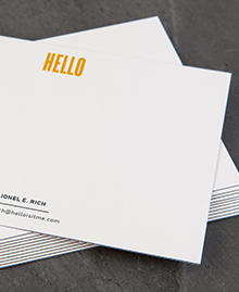 Notecard designs - Hello