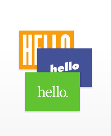 Postcard designs - Hello