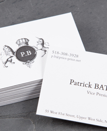Preview image of Business Card design 'Patrick Bateman'