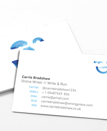Preview image of Business Card design 'Emoticons – Blue'