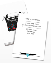 Preview image of Business Card design 'More Vintage Typewriters'