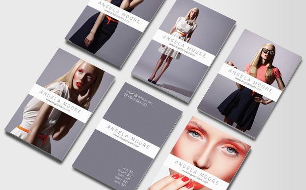 Model Business Cards Card For Modeling Agencies Moo United Kingdom