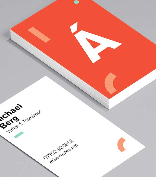 Business Card Designs Hy Alphabet