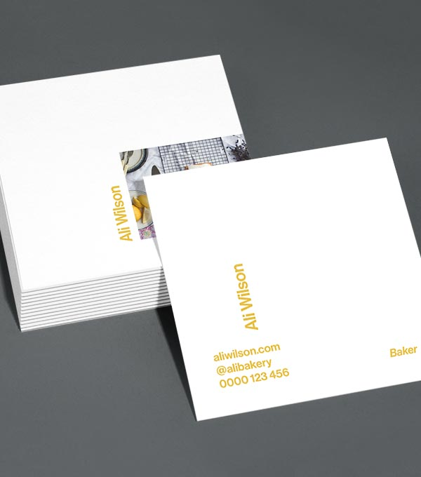 Square Business Card designs - Side Step