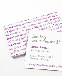 Preview image of Business Card design 'Wedding Fever'