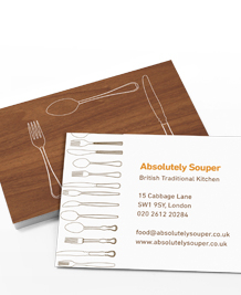 Business Card designs - Cutlery Cutouts
